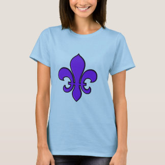 Purple Fleur de lis - Ladies Baby Doll T-Shirt