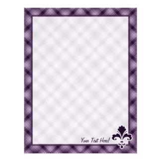Purple Fleur de lis Letterhead