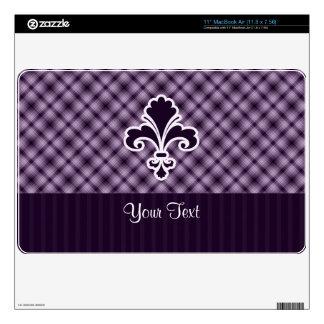 Purple Fleur de lis MacBook Air Skins