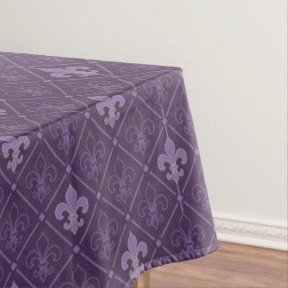 Purple Fleur de Lis Pattern Tablecloth