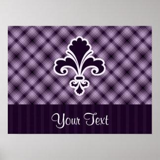 Purple Fleur de lis Poster