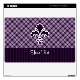 Purple Fleur de lis Skins For The MacBook Air