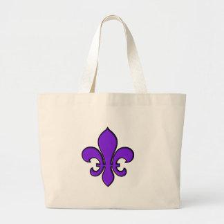 Purple Fleur de lis - Tote Bag