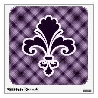 Purple Fleur de lis Room Graphics