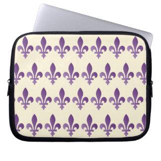 Purple Fleur de lys Cornsilk Neoprene Sleeve 10