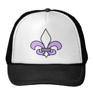 Purple Fleur De Lys Trucker Hat