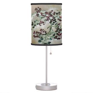 """""""Purple Floaters"""" JTG Art Table Lamp"""