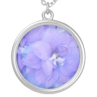 Purple Flora Round Pendant Necklace
