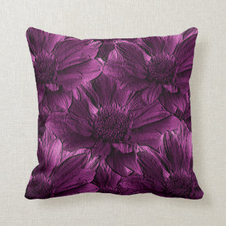 Purple Floral Abstract Pillows