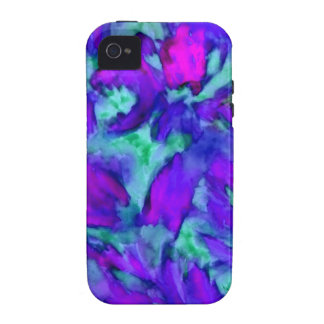 Purple Floral Abstract Watercolor Designer Beauty iPhone 4 Case