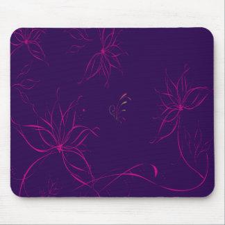Purple Floral Background Mouse Pad