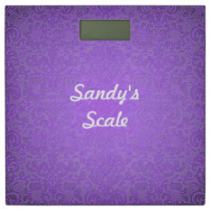 Purple Floral Bathroom Scale at Zazzle