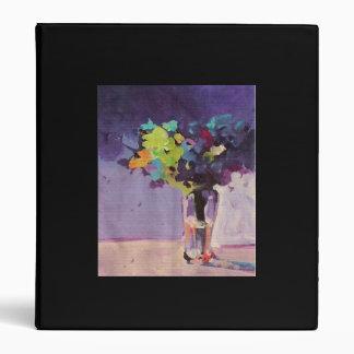 purple floral binder