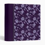 Purple Floral Binders