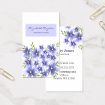 Purple Floral Business Cards