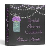 purple floral Chalkboard Mason Jar Recipe Folder