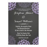 Purple Floral Chalkboard Wedding Invitation Personalized Invites