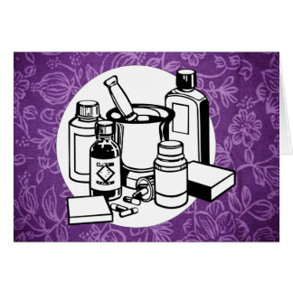 Purple Floral Cloth - Fibromyalgia Awareness Cards