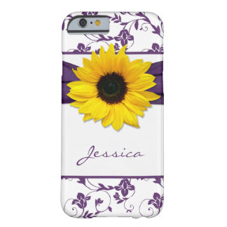 Purple Floral Damask Yellow Sunflower iPhone 6 cas iPhone 6 Case