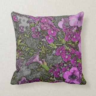 PURPLE FLORAL/DIG.MANIP./PAINTERLY EFFECTS/PILLOW THROW PILLOW