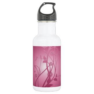 Purple Floral Dream Stainless Steel Water Bottle
