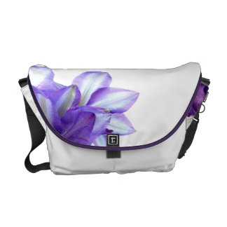Purple Floral Elegance Messenger Bag
