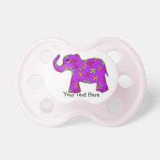 Purple Floral Elephant Pacifier
