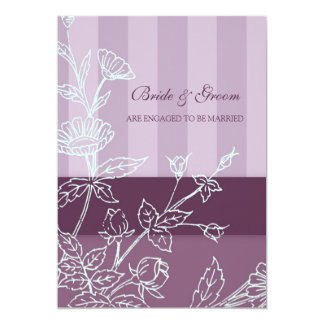 Purple Floral Engagement Party Invitations
