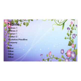 PURPLE FLORAL FANTASY Double-Sided STANDARD BUSINESS CARDS (Pack OF 100)