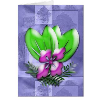 Purple Floral Fantasy Greeting Card