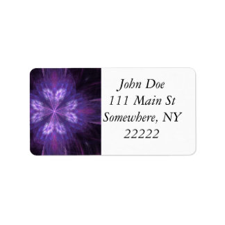 Purple Floral Fractal Custom Address Label