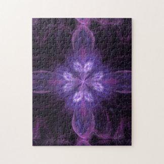 Purple Floral Fractal Puzzles