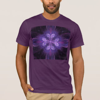 Purple Floral Fractal T-Shirt