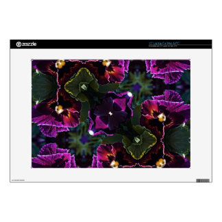 Purple Floral Geometric Decal For Laptop