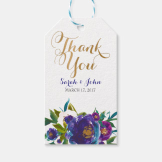 Purple Floral Gift Tags