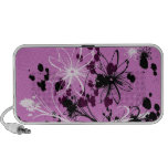 Purple Floral Grunge Mini Speaker