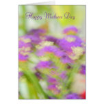 Purple floral Happy Mothers Day Card