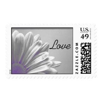 Purple Floral Highlights Love Postage Stamp