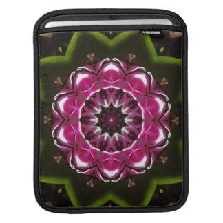 Purple Floral Kaleidoscope iPad Sleeve