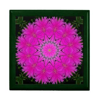 Purple Floral Kaleidoscope Tile Gift Box