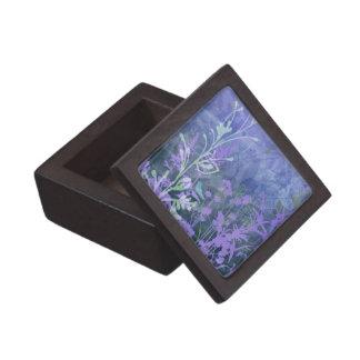 Purple Floral Keepsake Box