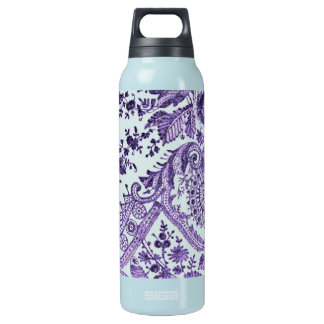 Purple Floral Lace 16 Oz Insulated SIGG Thermos Water Bottle