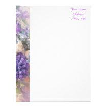 Purple Floral Letterhead