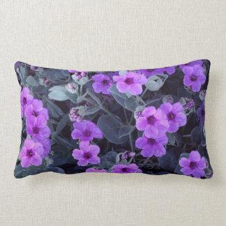Purple Floral Lumbar Pillow