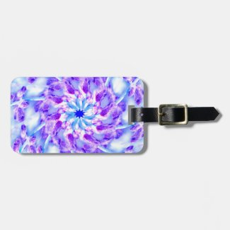 Purple Floral Mandala Bag Tag