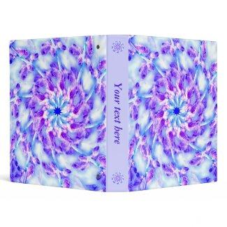 Purple Floral Mandala Vinyl Binders
