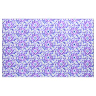Purple Floral Mandala Fabric