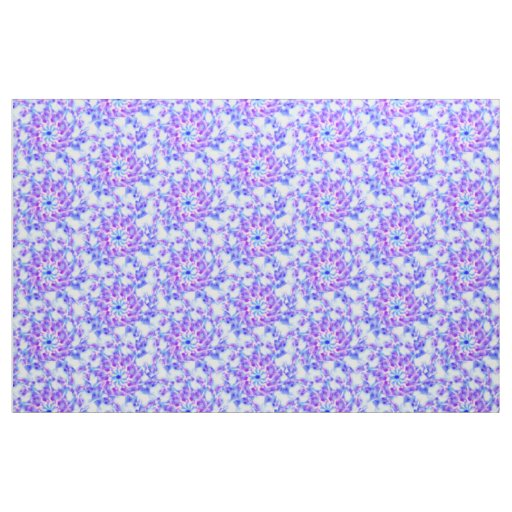 Purple Floral Mandala Fabric