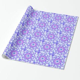Purple Floral Mandala Gift Wrap Paper