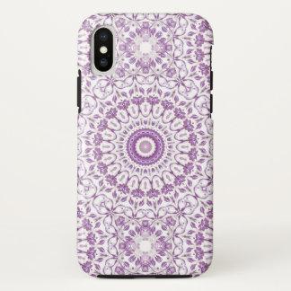 Purple Floral Mandala iPhone X Case